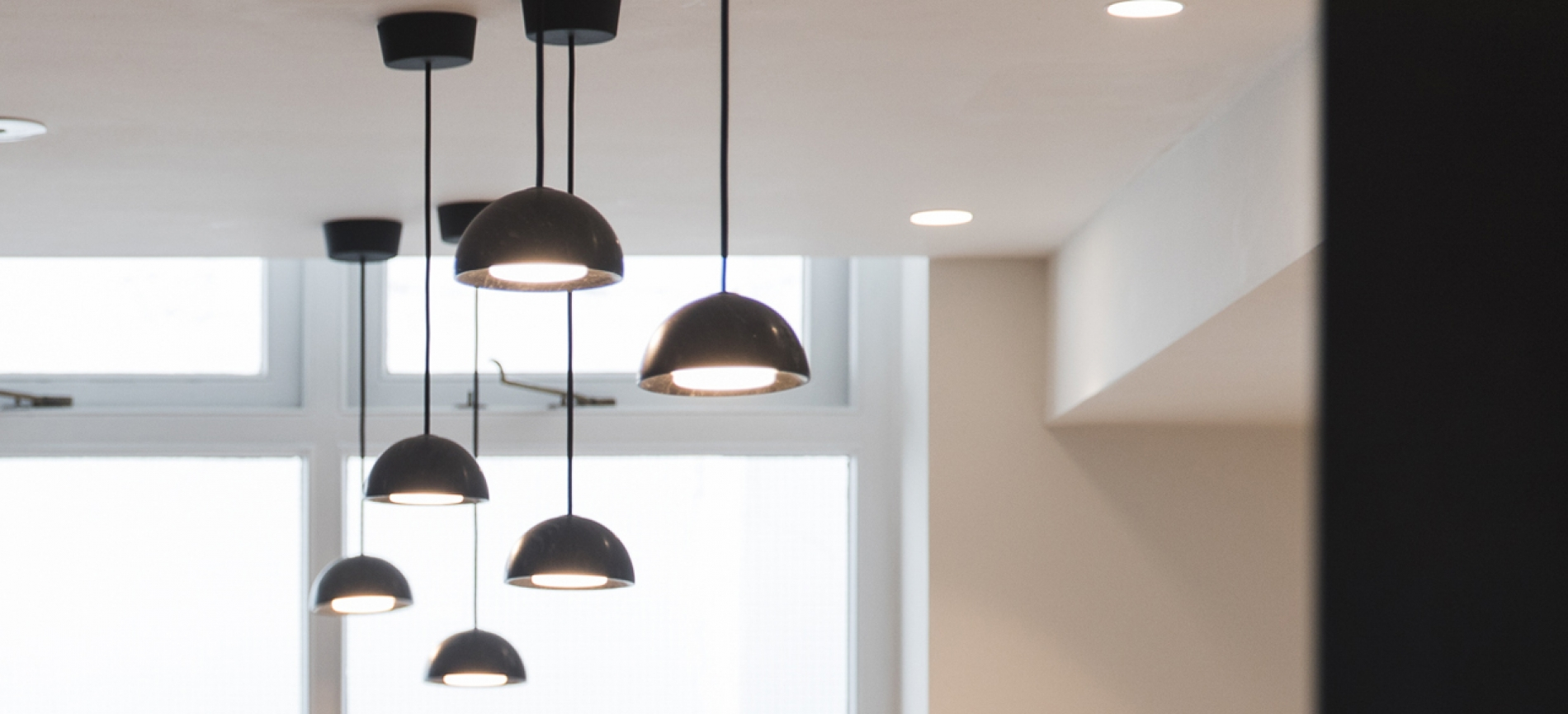 Coffee shop lights at 54 Doughty Street